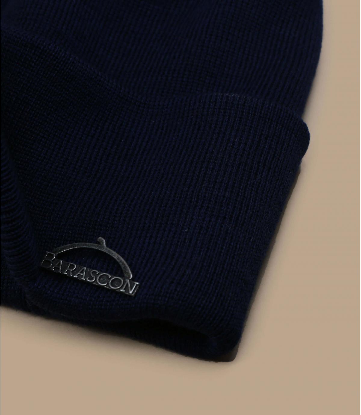 bonnet visière bleu laine