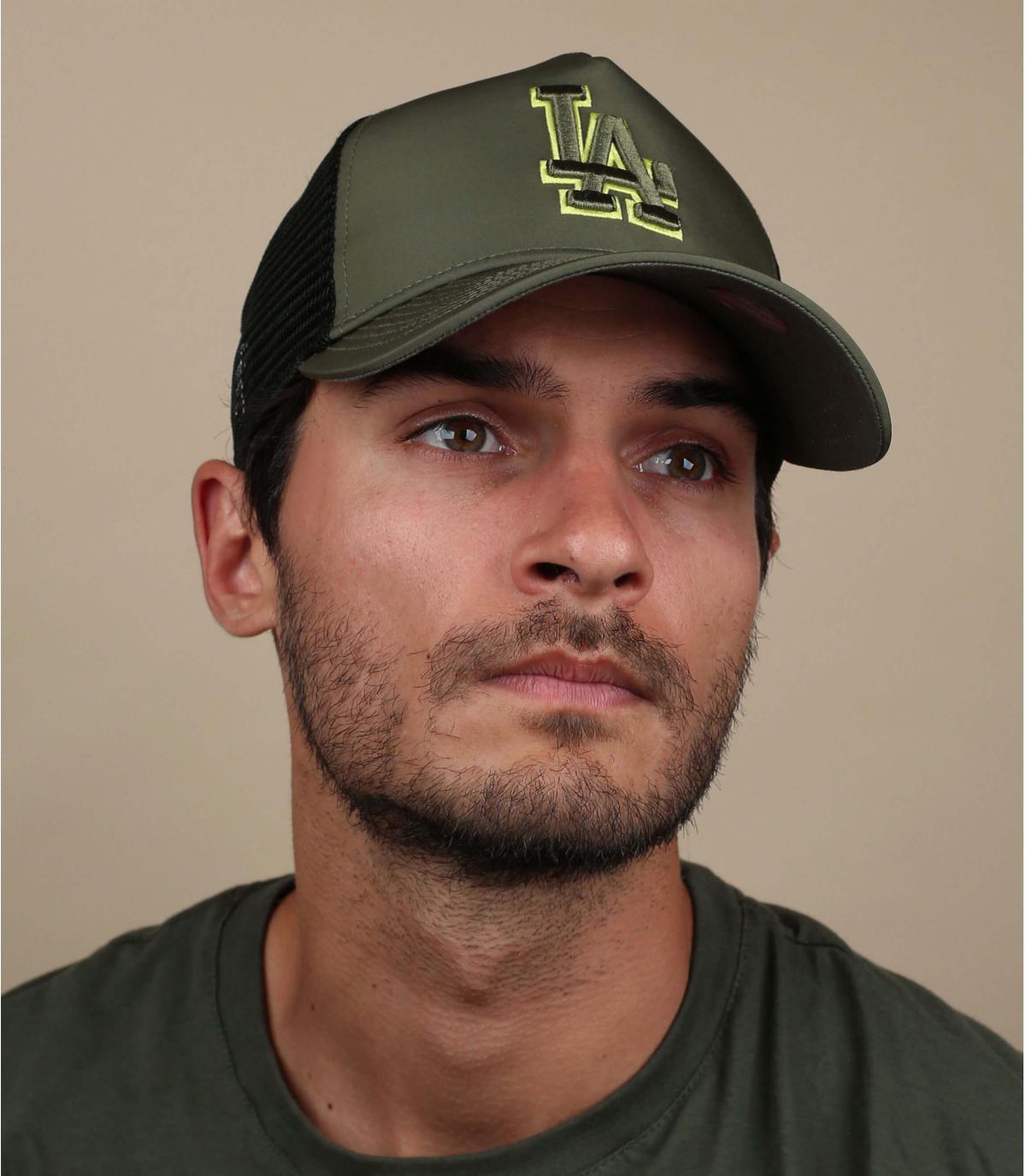 trucker LA vert nylon