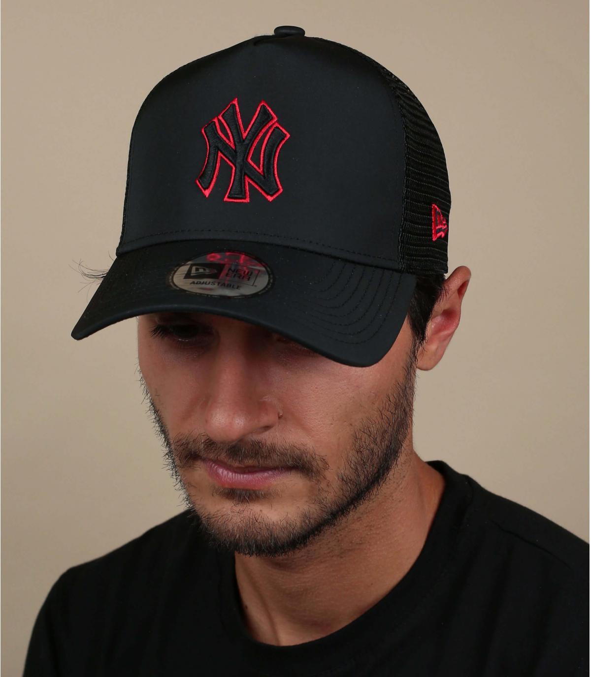 trucker NY noir nylon