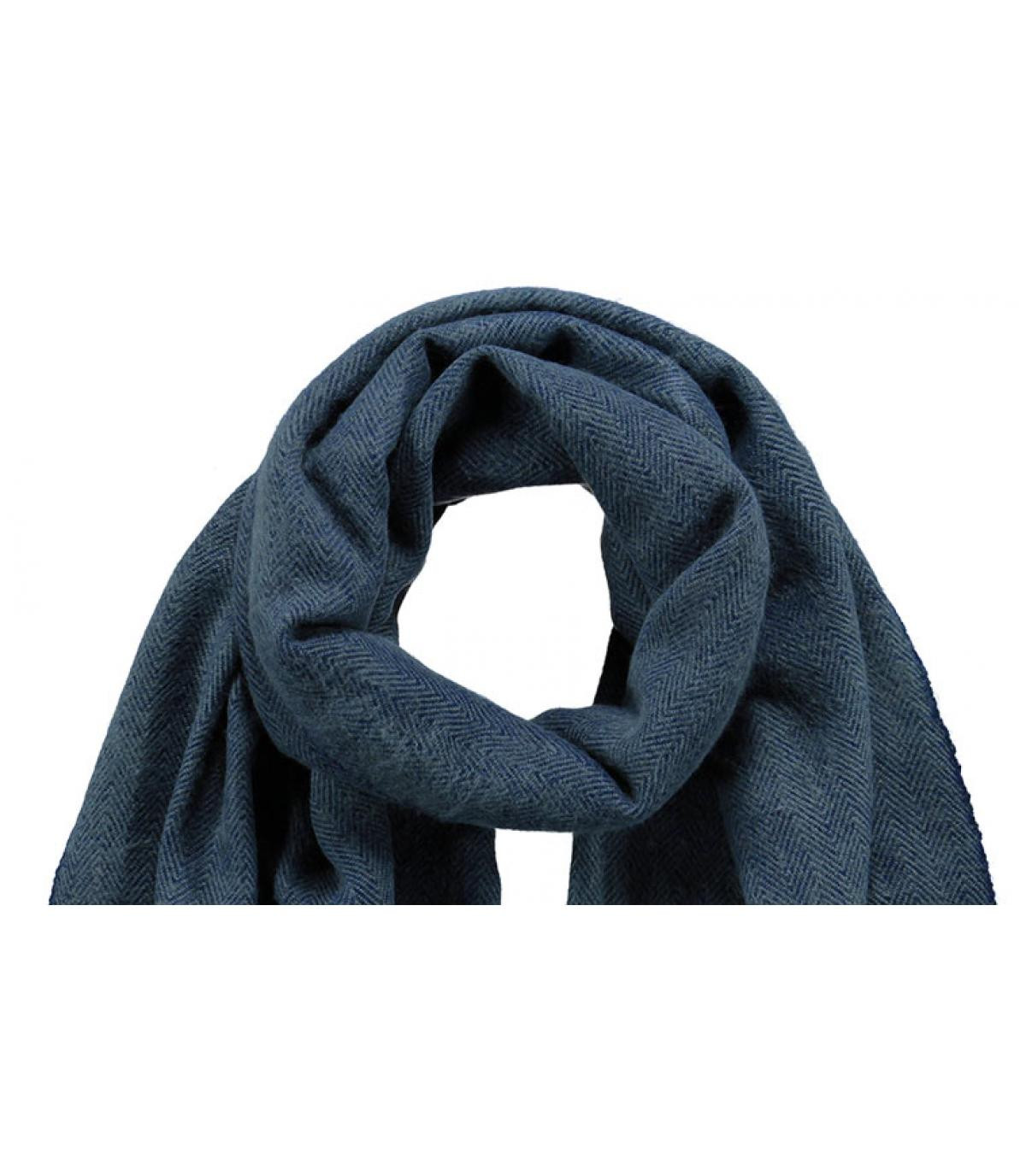 03c45cce53f Echarpe homme bleu marine - Soho scarf navy Barts - image 1 ...