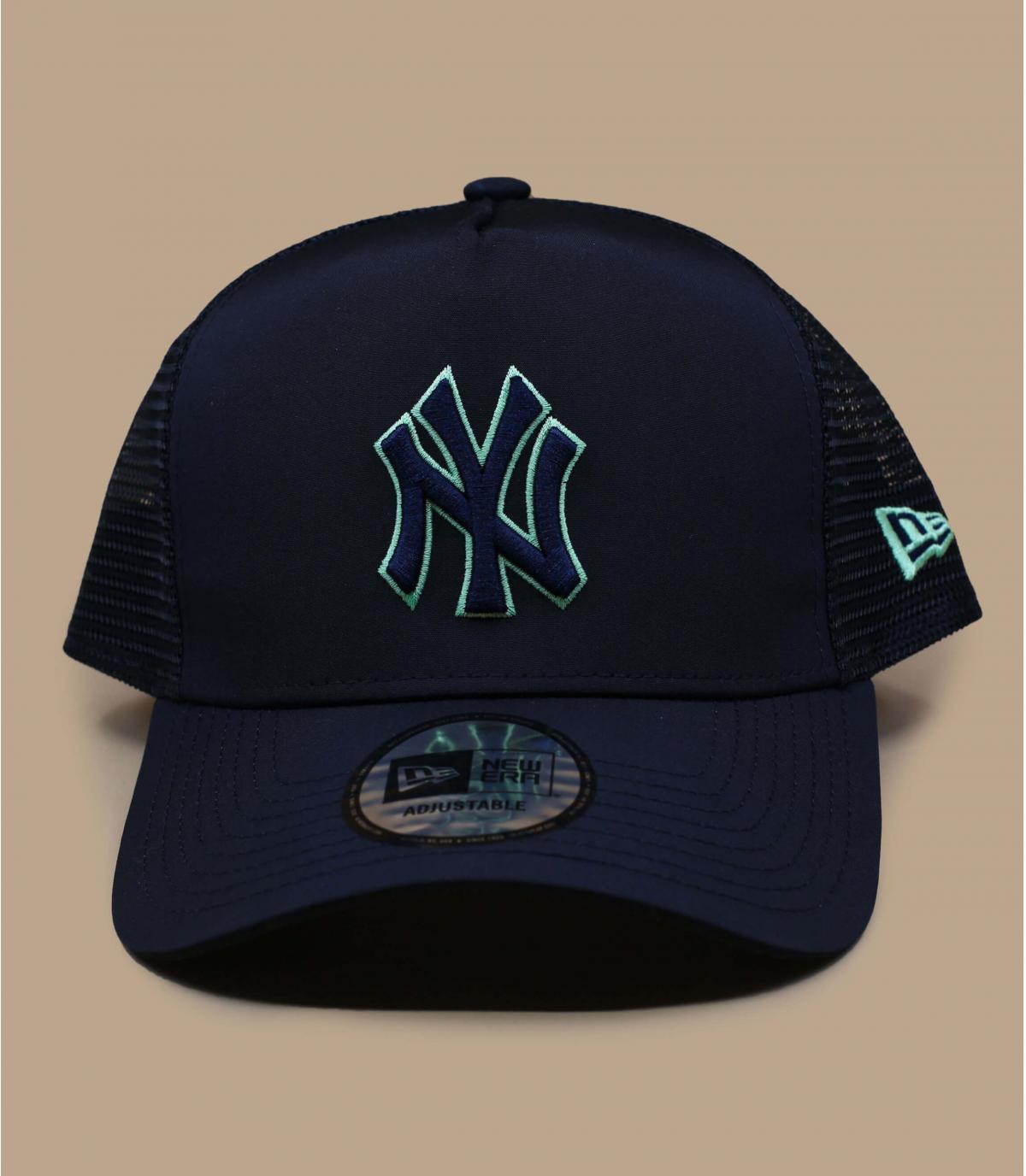 trucker NY bleu vert