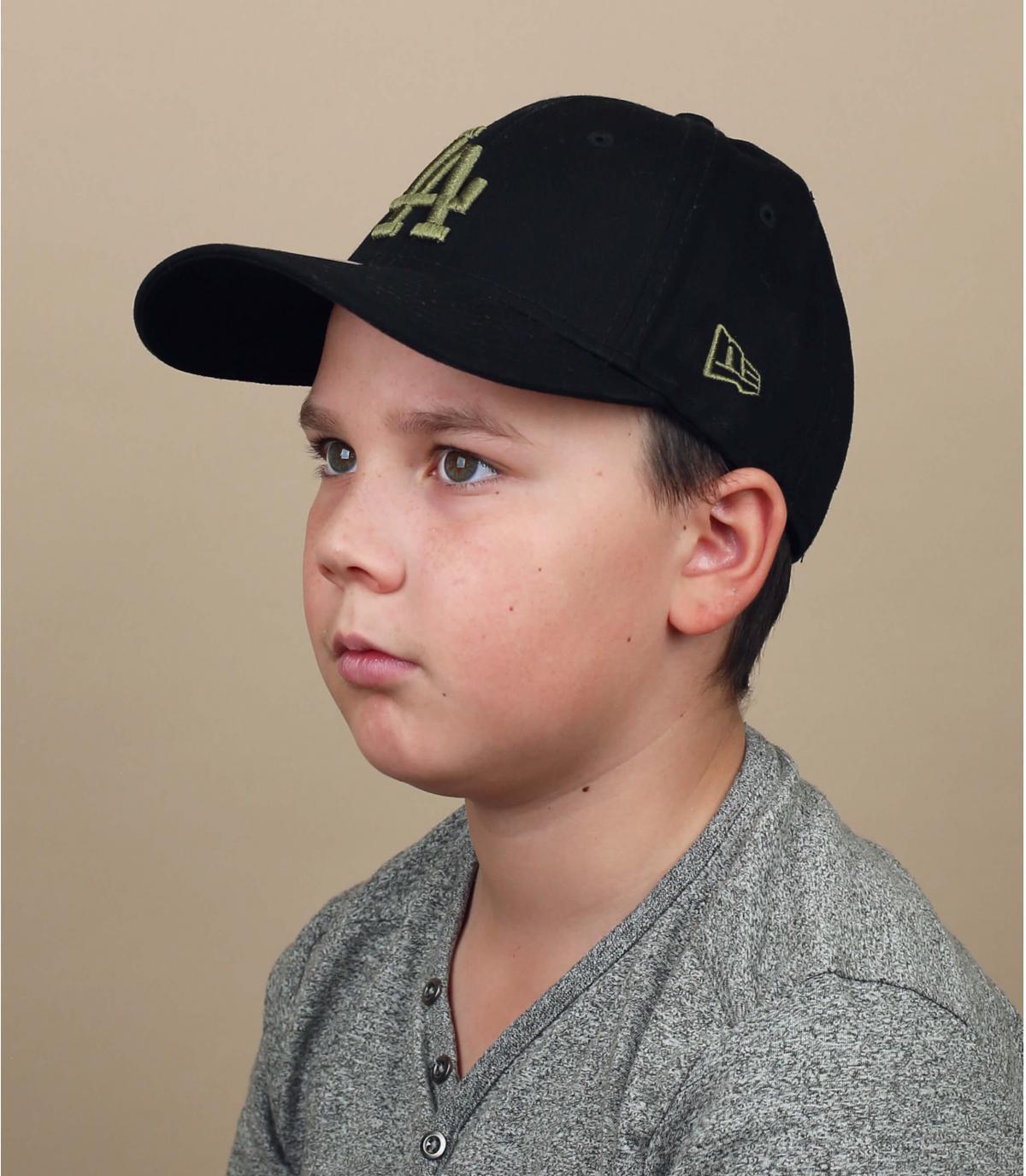 casquette enfant LA noir