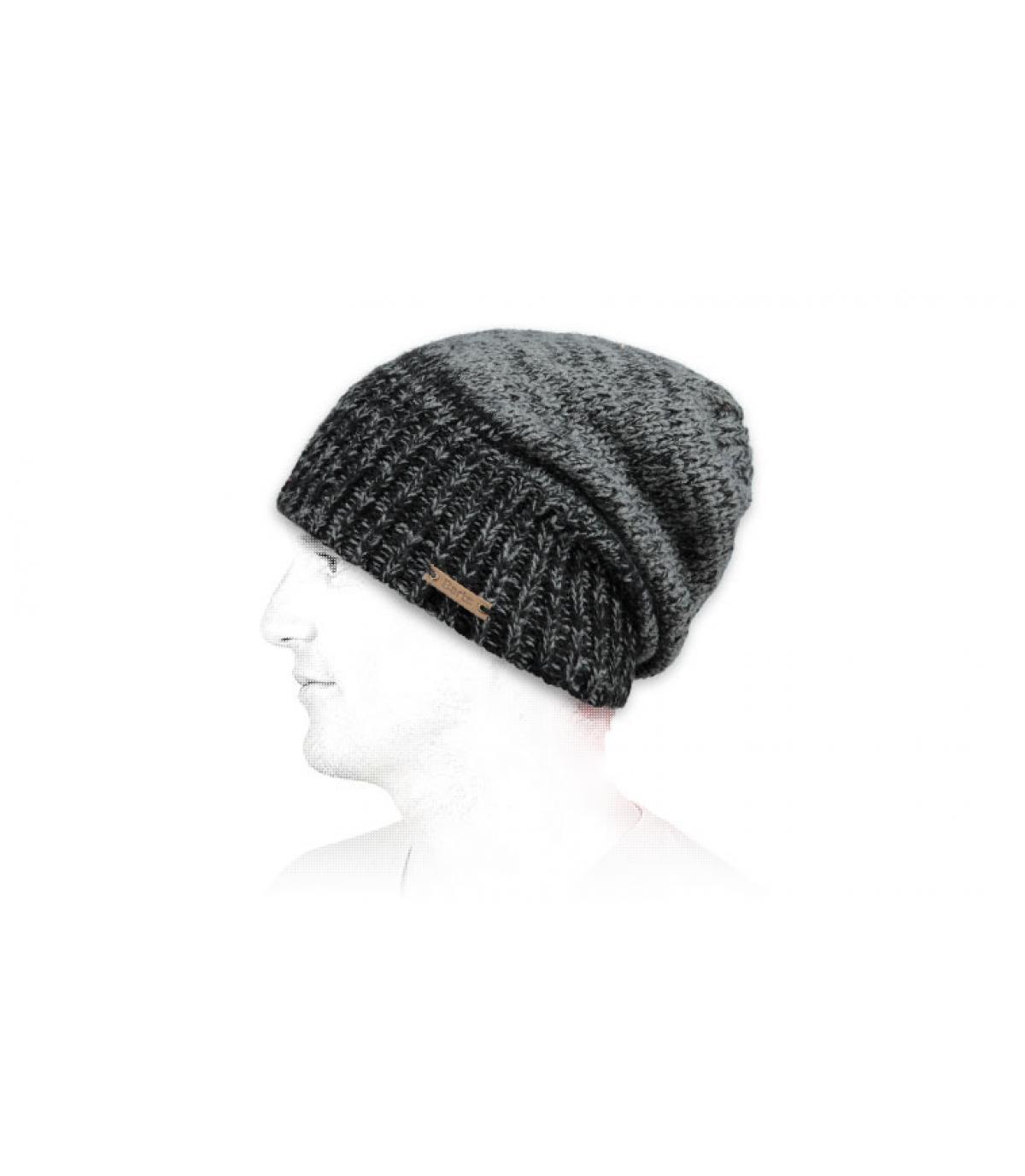 dd43cb424b6 Barts. bonnet long noir. Détails Brighton beanie black - image 3 ...