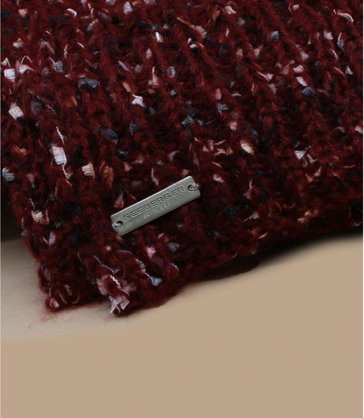 écharpe bordeaux chiné