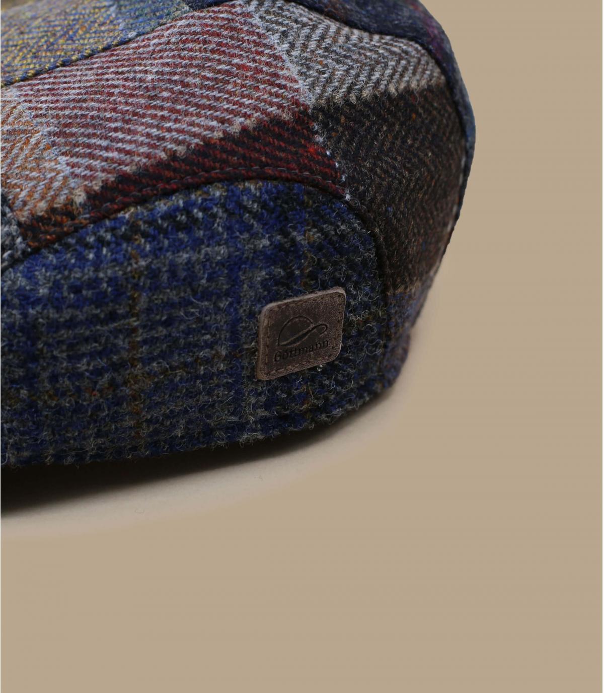 béret patchwork laine bleu