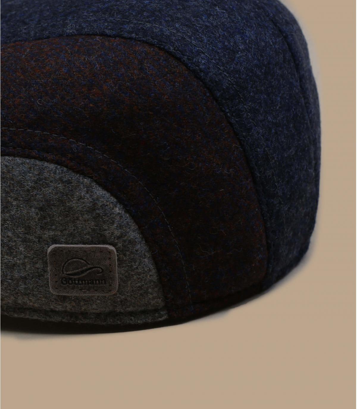 béret laine bleu protège oreille
