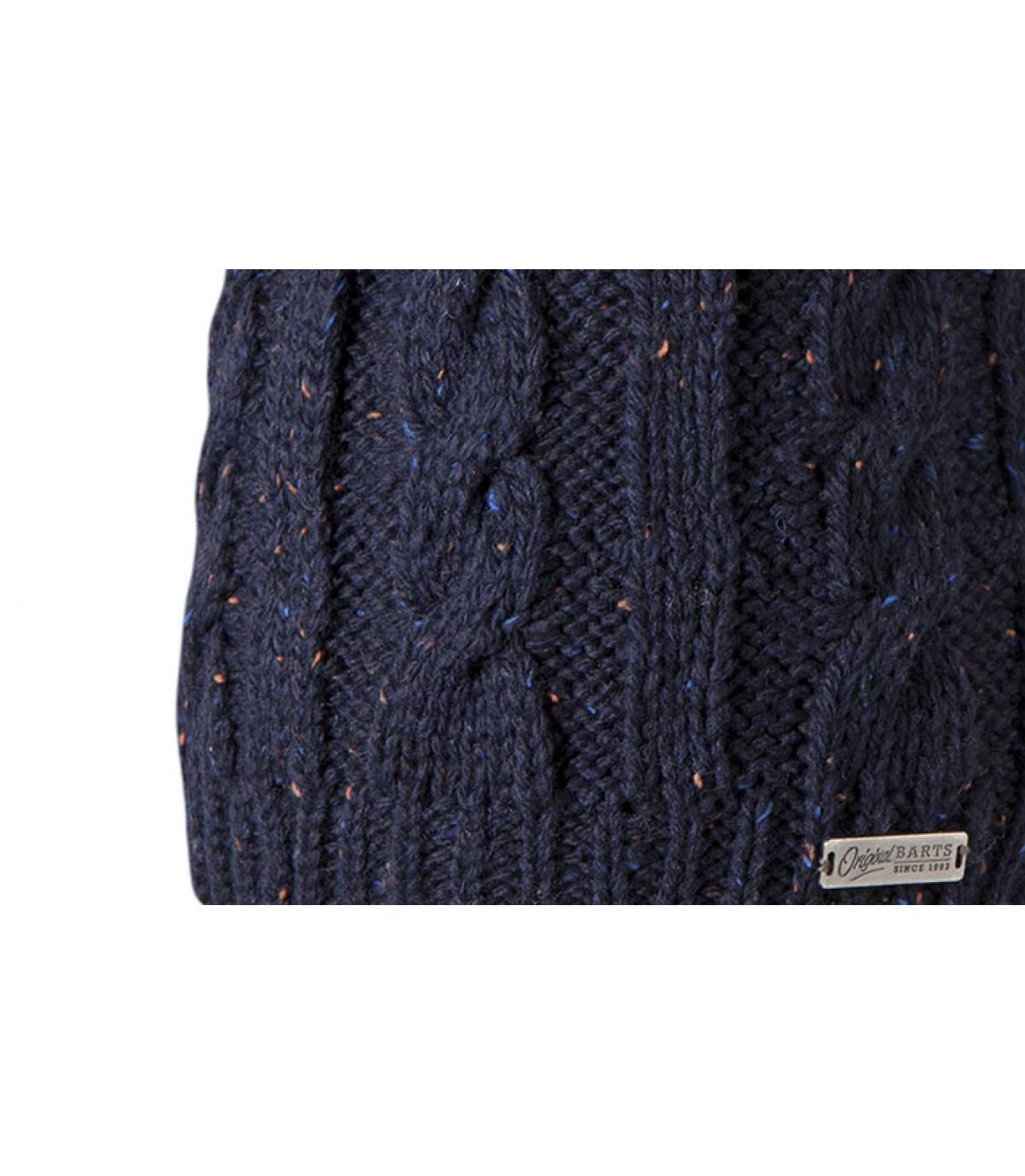bonnet homme bleu marine gus beanie navy par barts. Black Bedroom Furniture Sets. Home Design Ideas