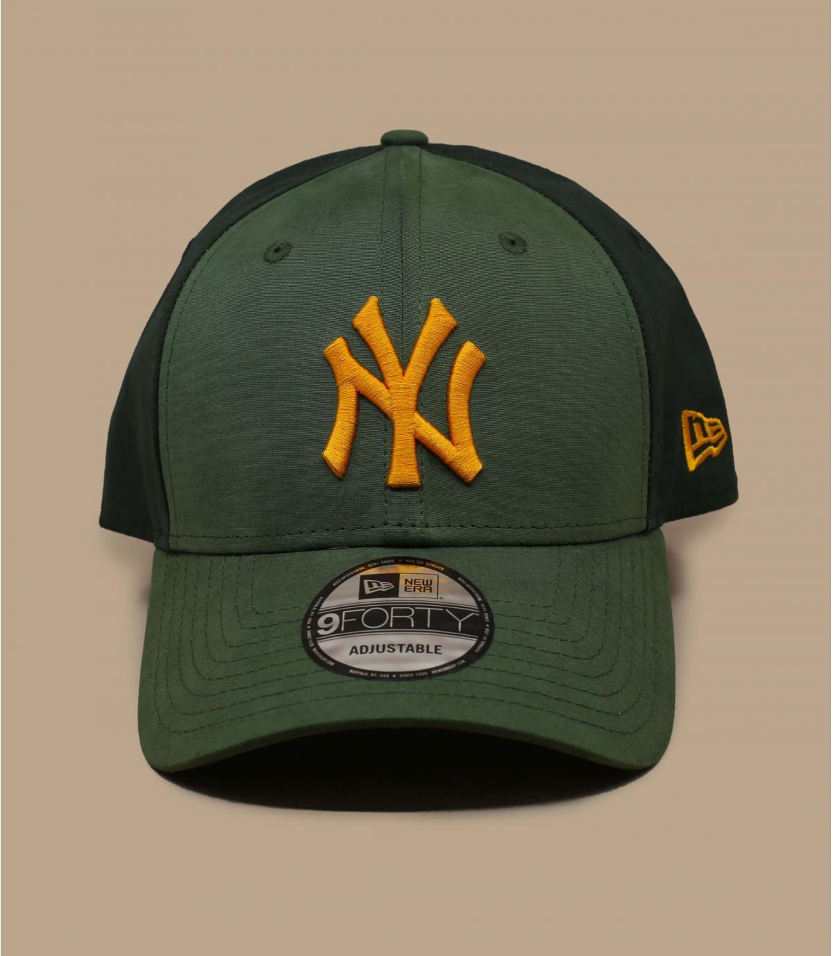 casquette NY vert jaune