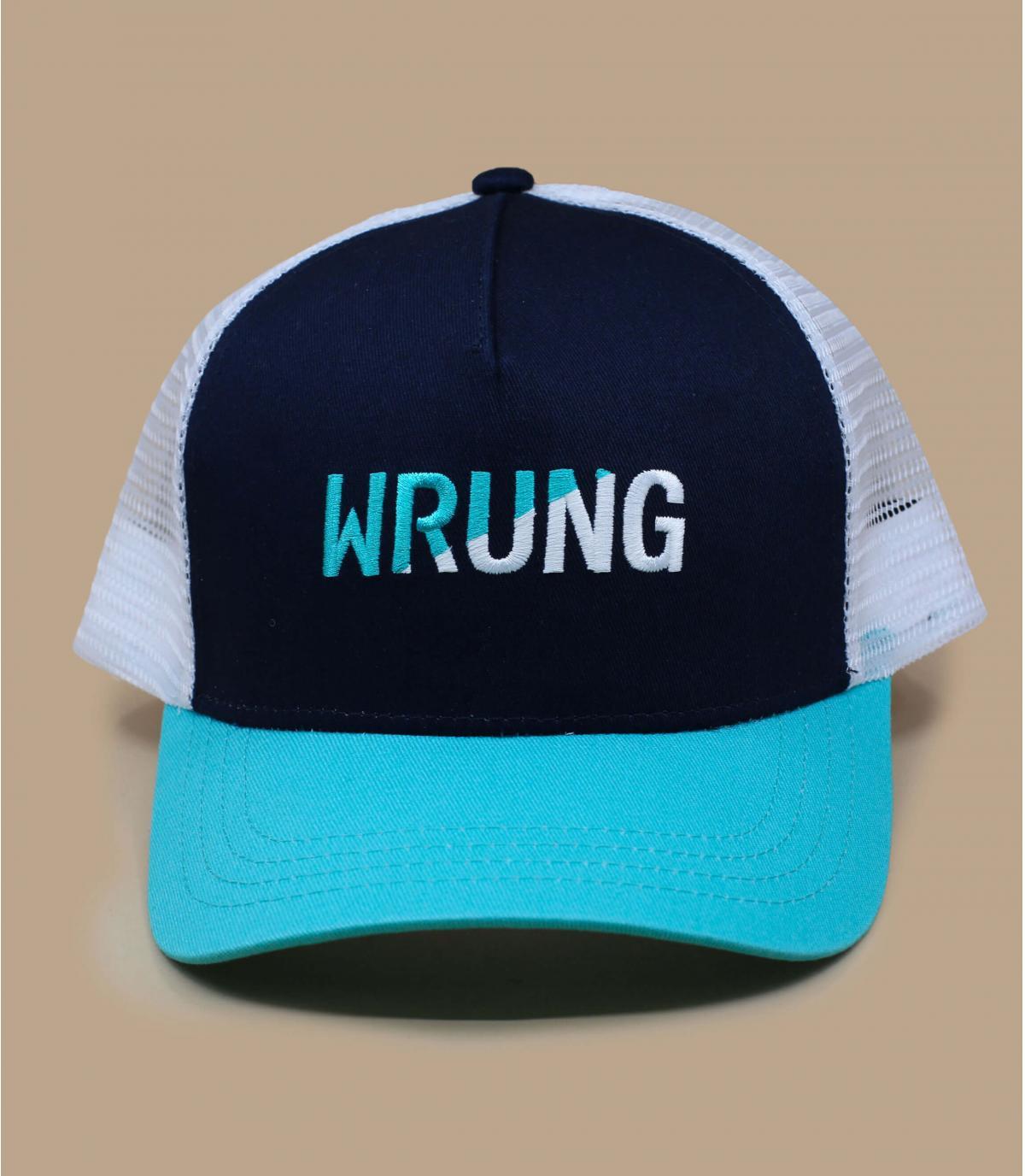 trucker Wrung bleu blanc