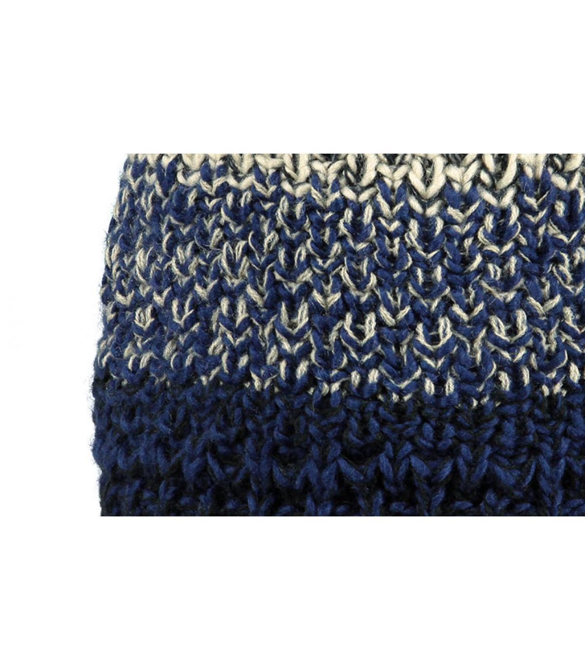 bonnet pompon bleu homme lester beanie dark blue par barts. Black Bedroom Furniture Sets. Home Design Ideas