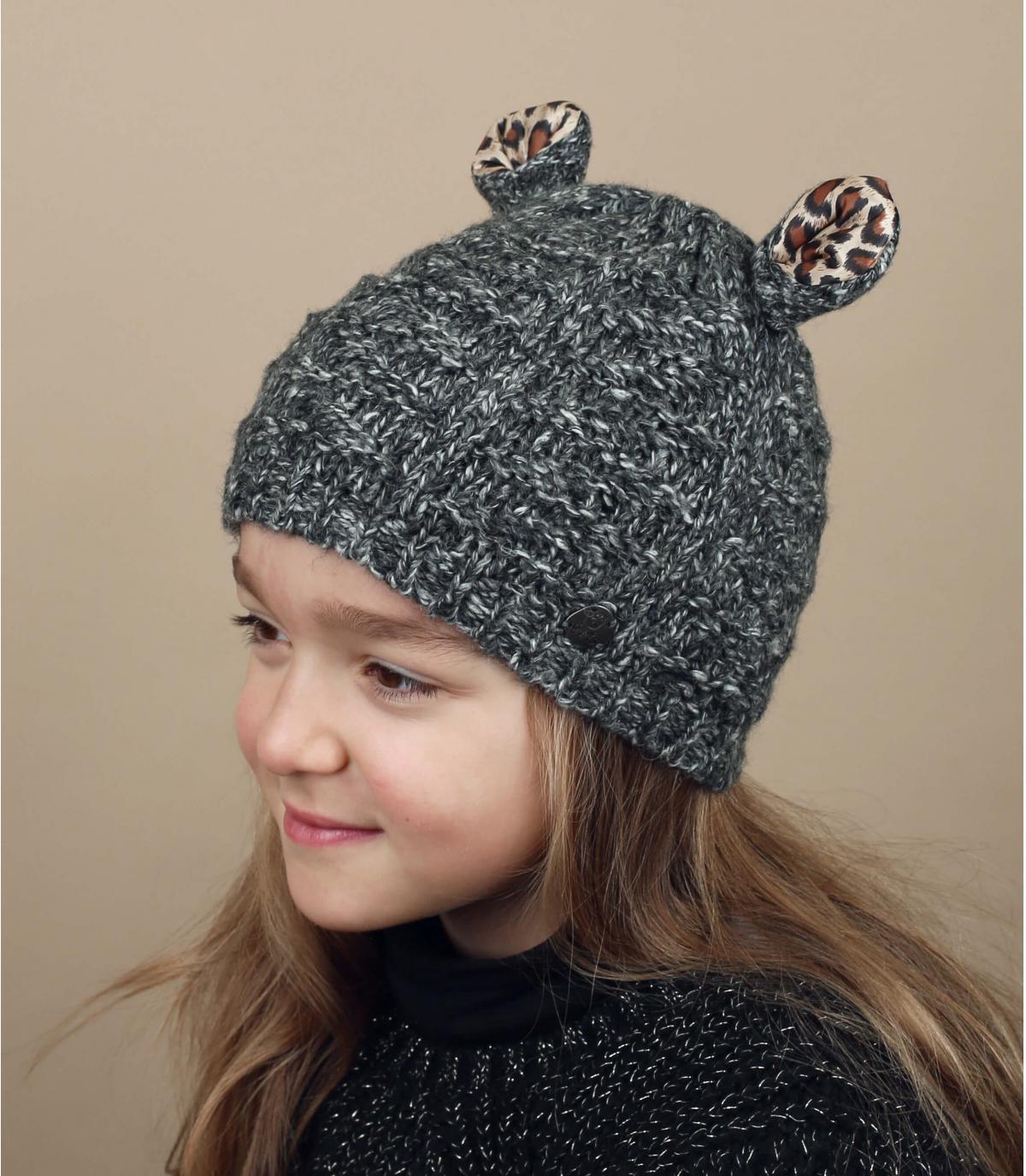 Bonnet enfant gris