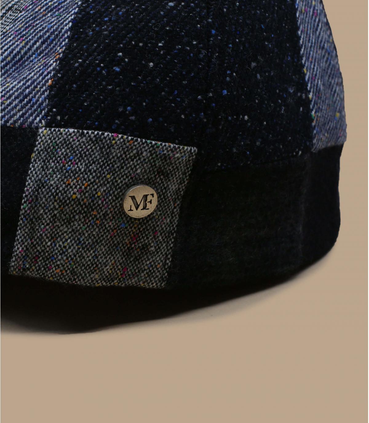 béret patchwork gris laine