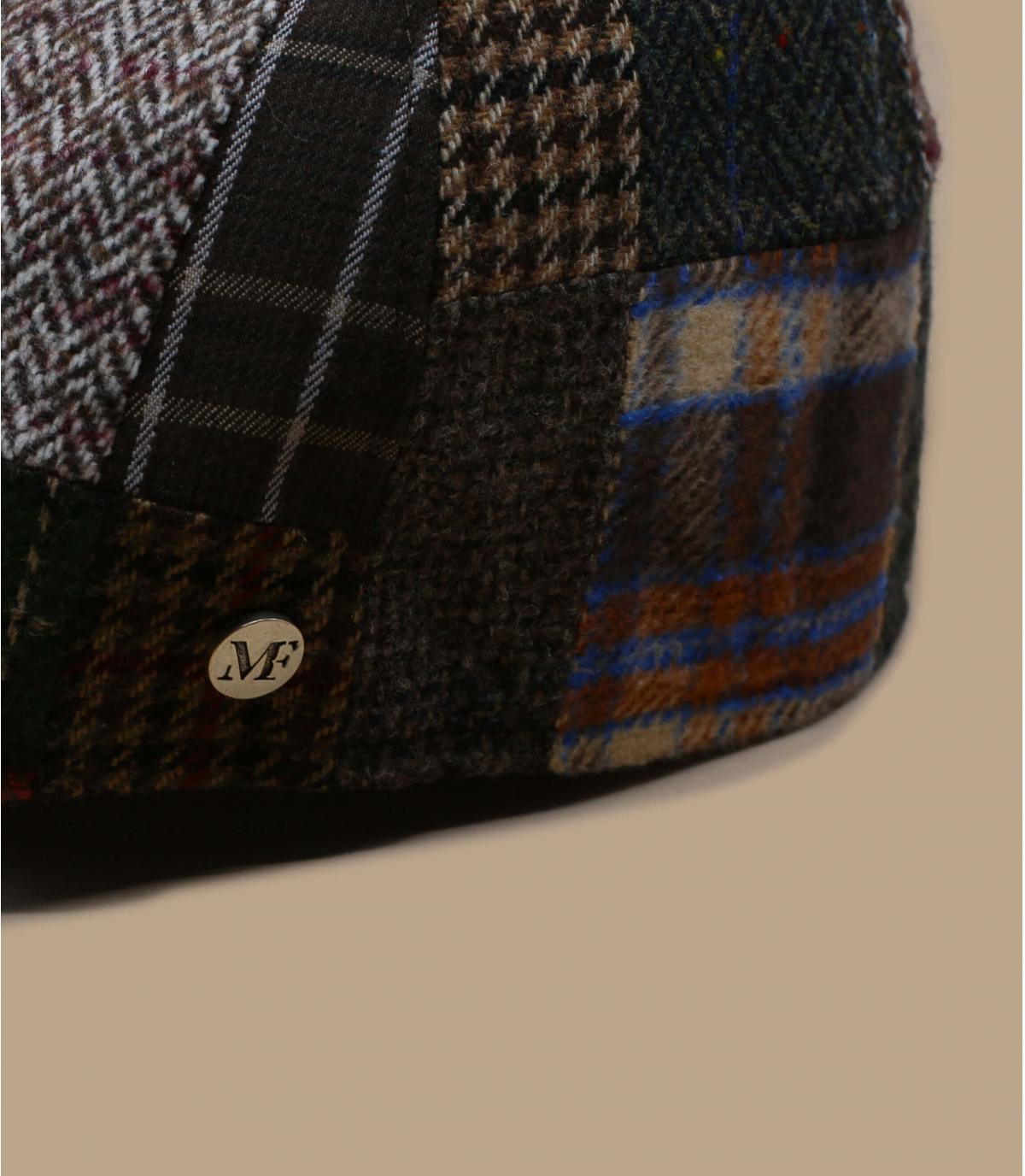 béret patchwork marron laine