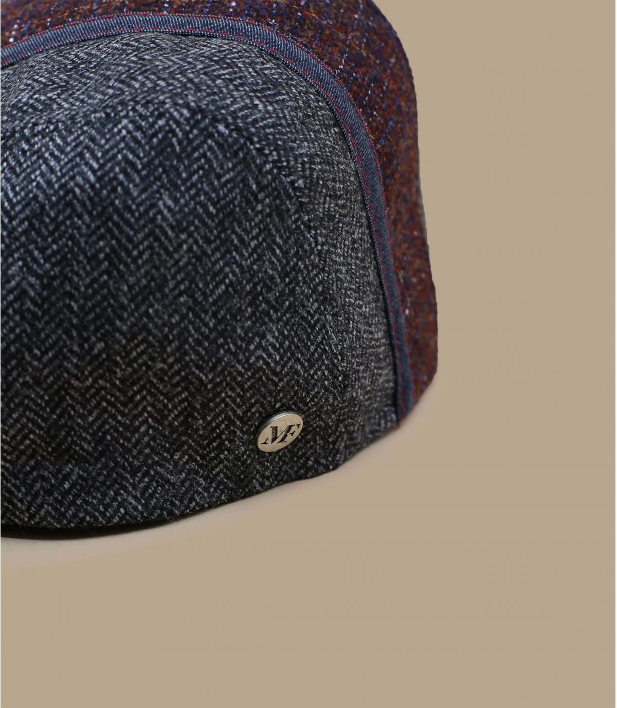 béret bicolore gris bordeaux