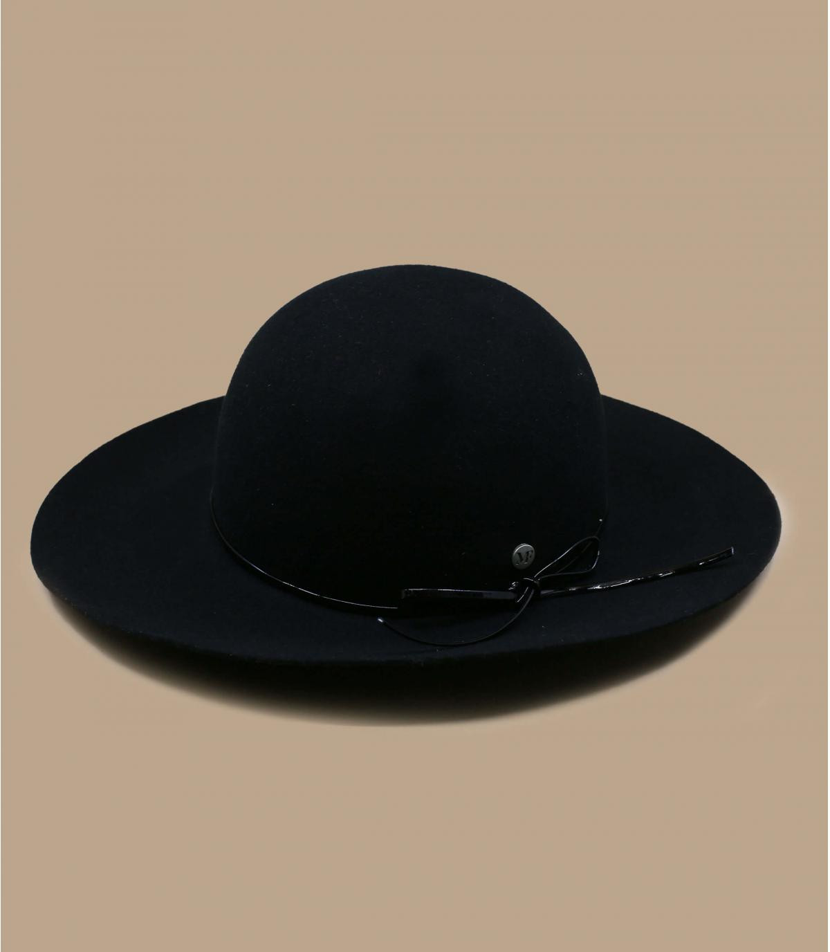 capeline feutre noir pliable