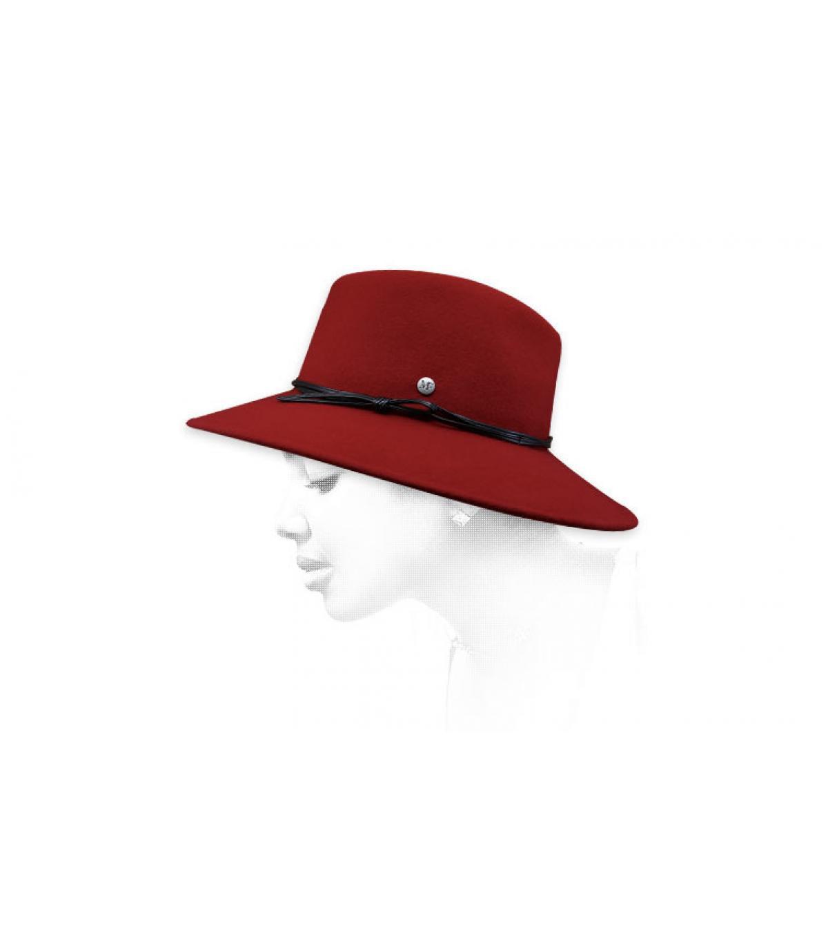 chapeau feutre femme rouge