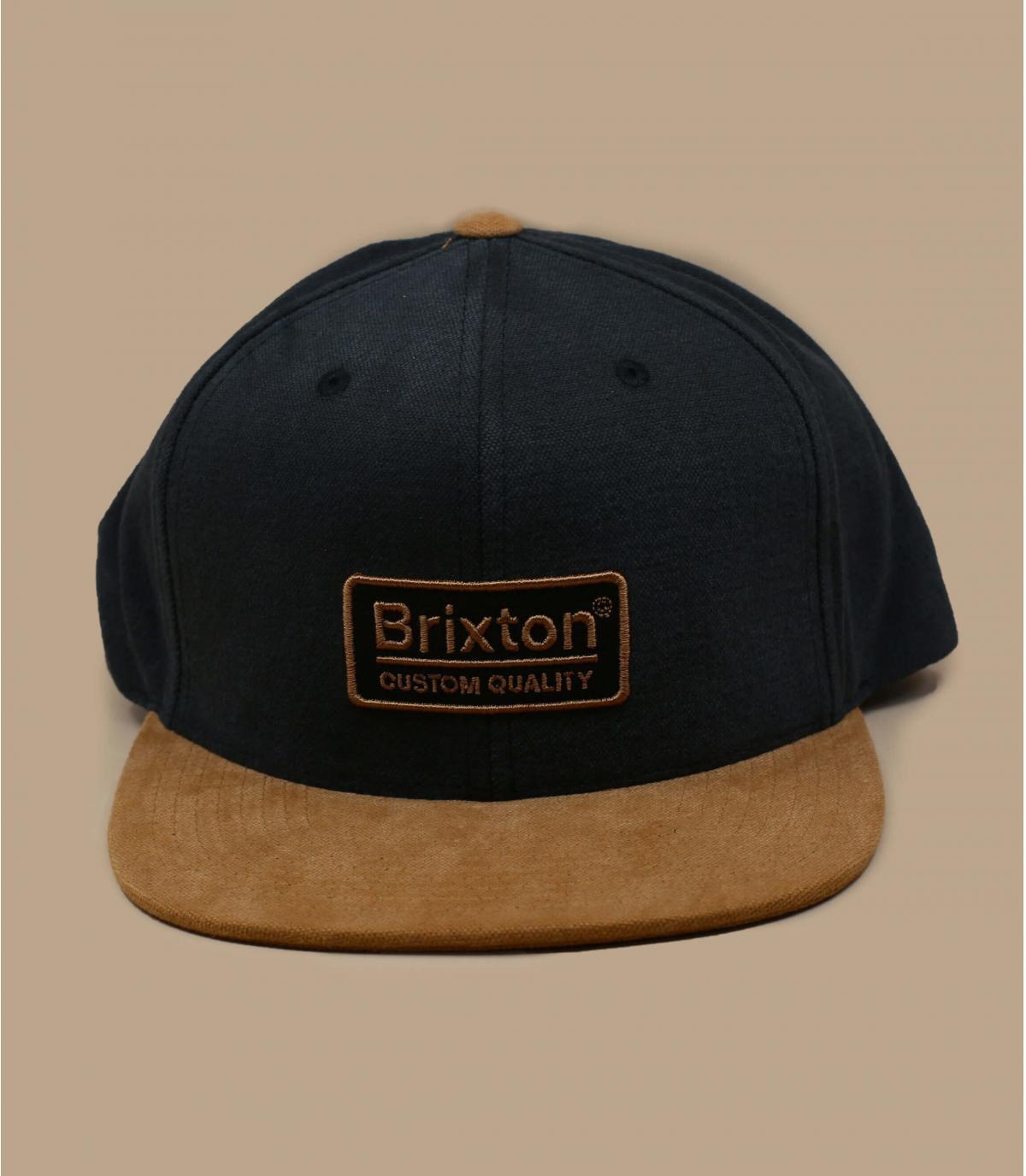 snapback Brixton noir suede