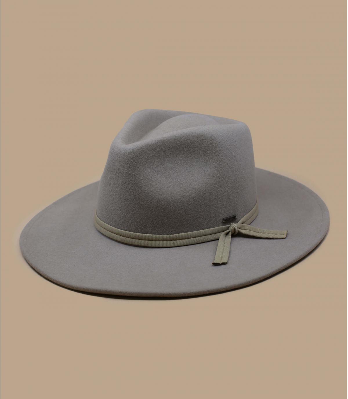 Chapeau feutre pliable beige