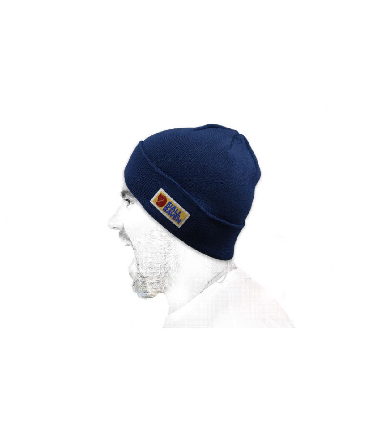 bonnet Fjällräven bleu