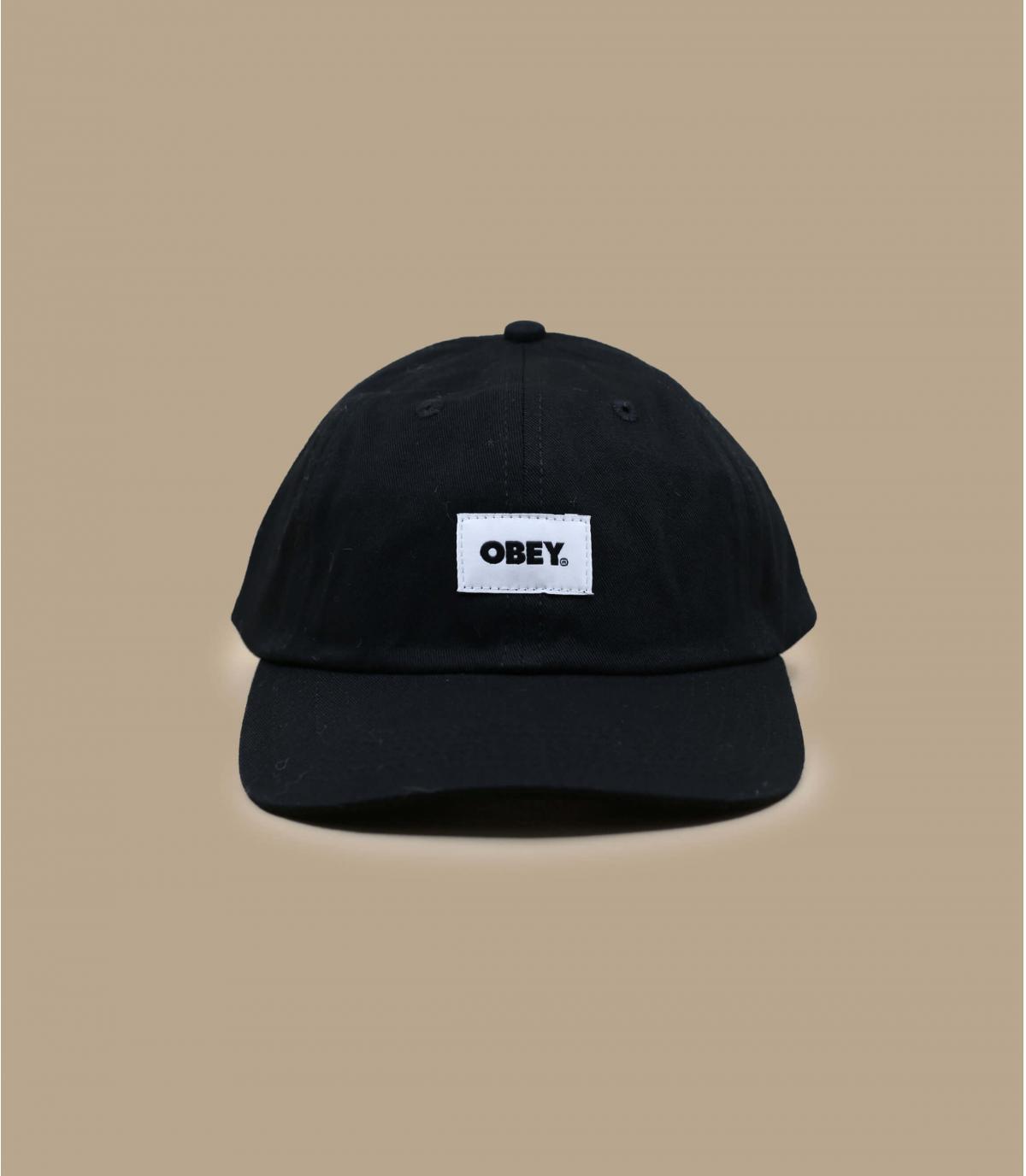 casquette Obey noir bio