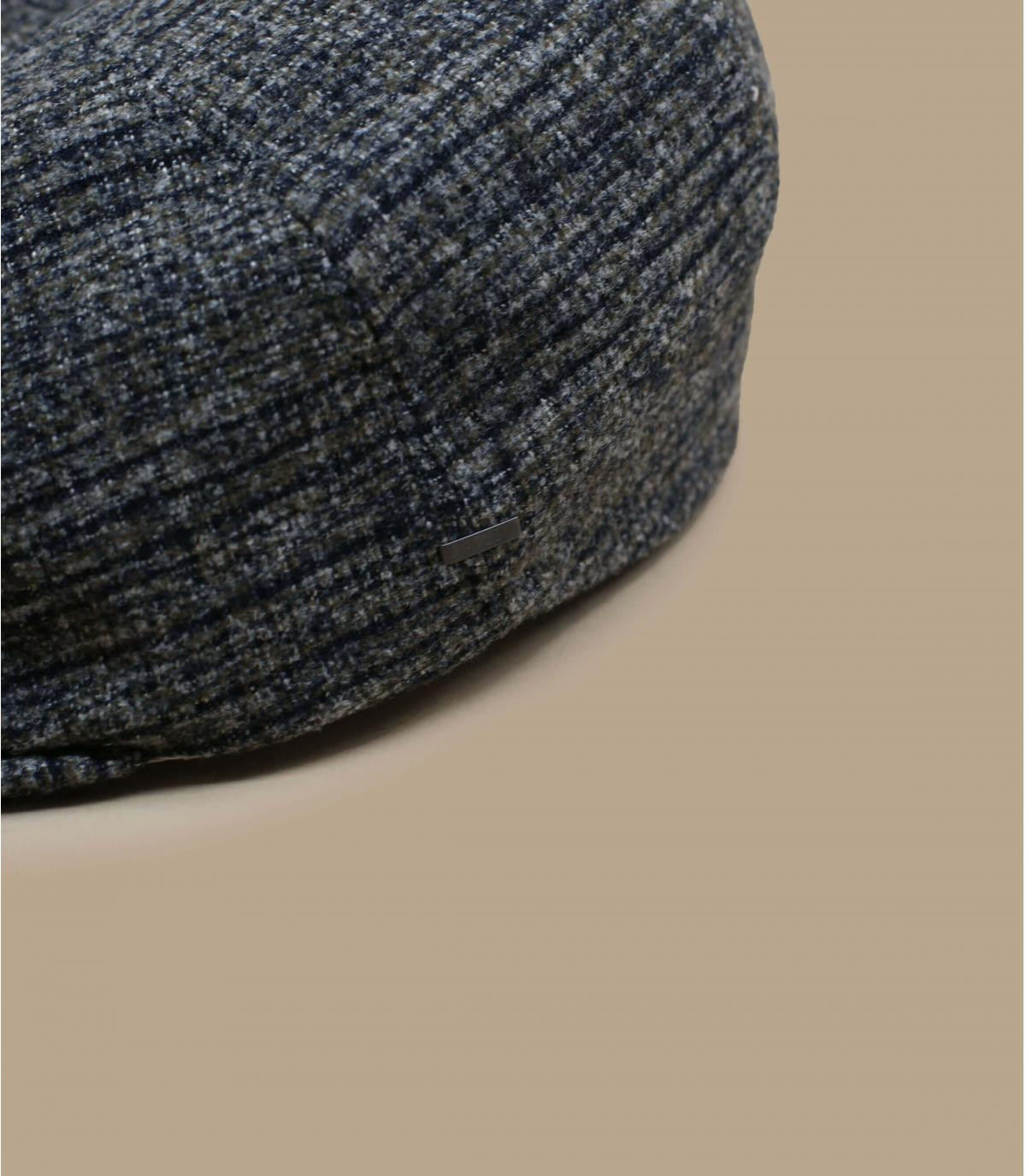 béret gris laine carreaux