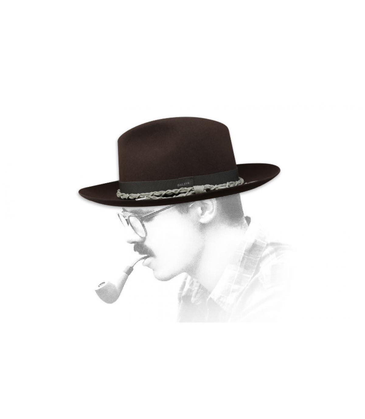 chapeau feutre brun Bailey