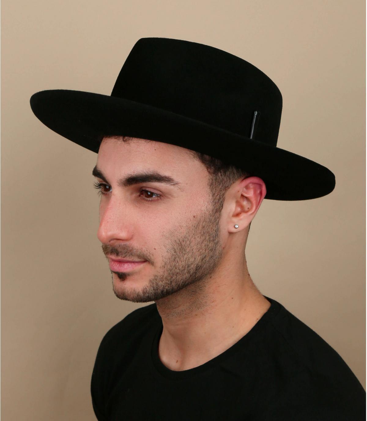 chapeau feutre noir Bailey