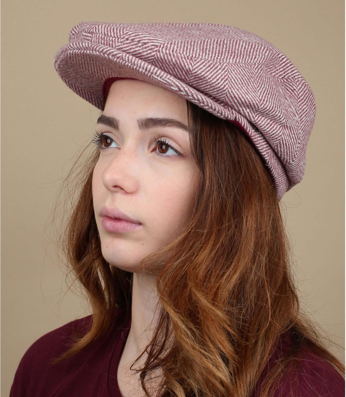 béret rose laine femme