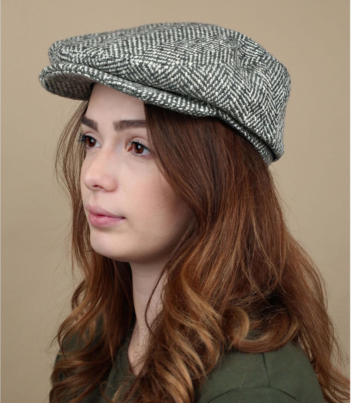 béret gris laine femme