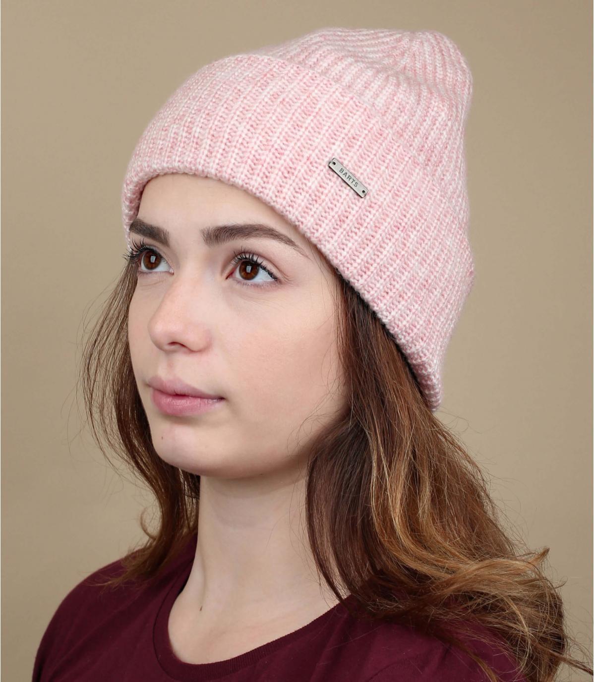 bonnet rose revers