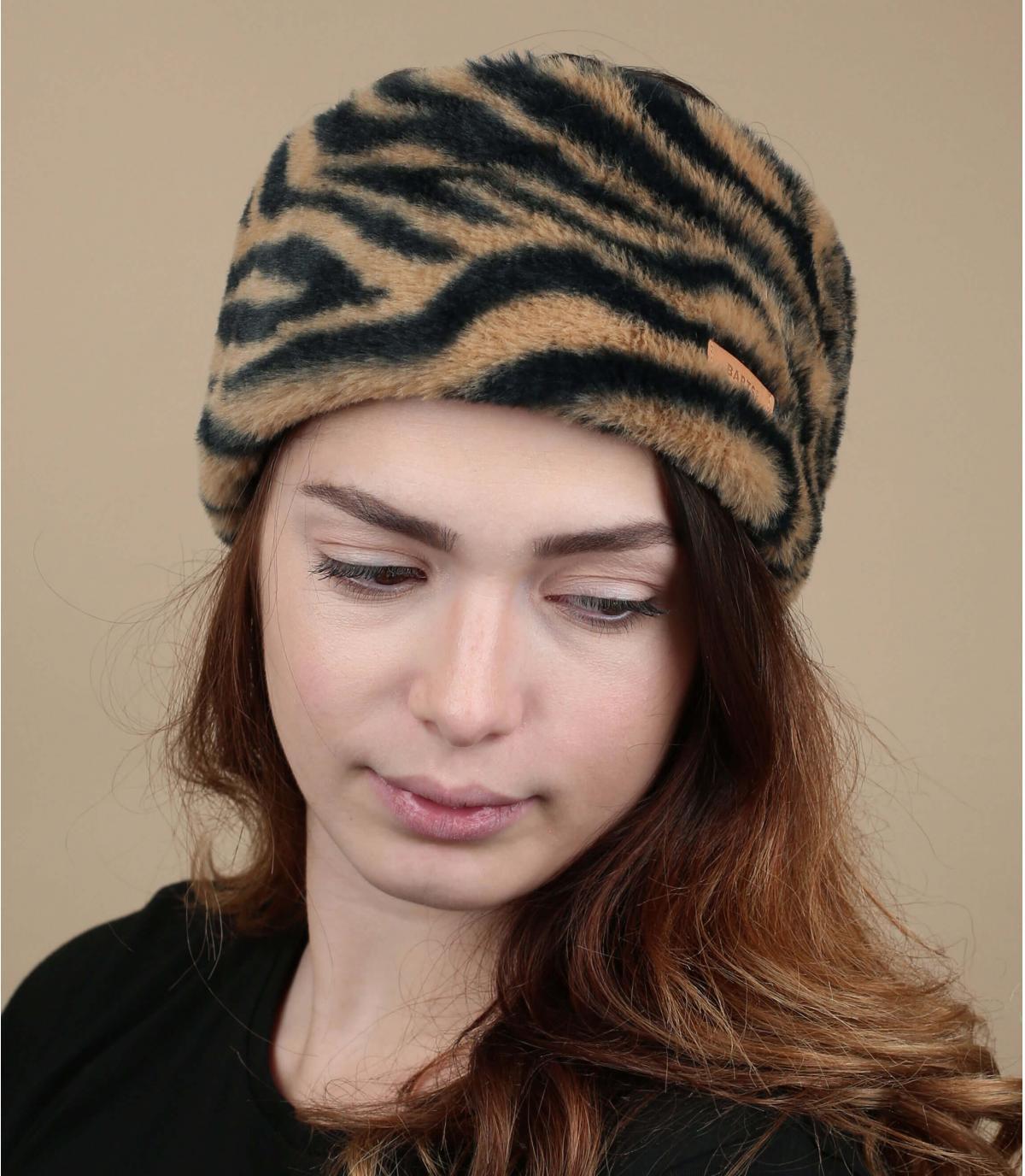 bandeau fourrure tigre