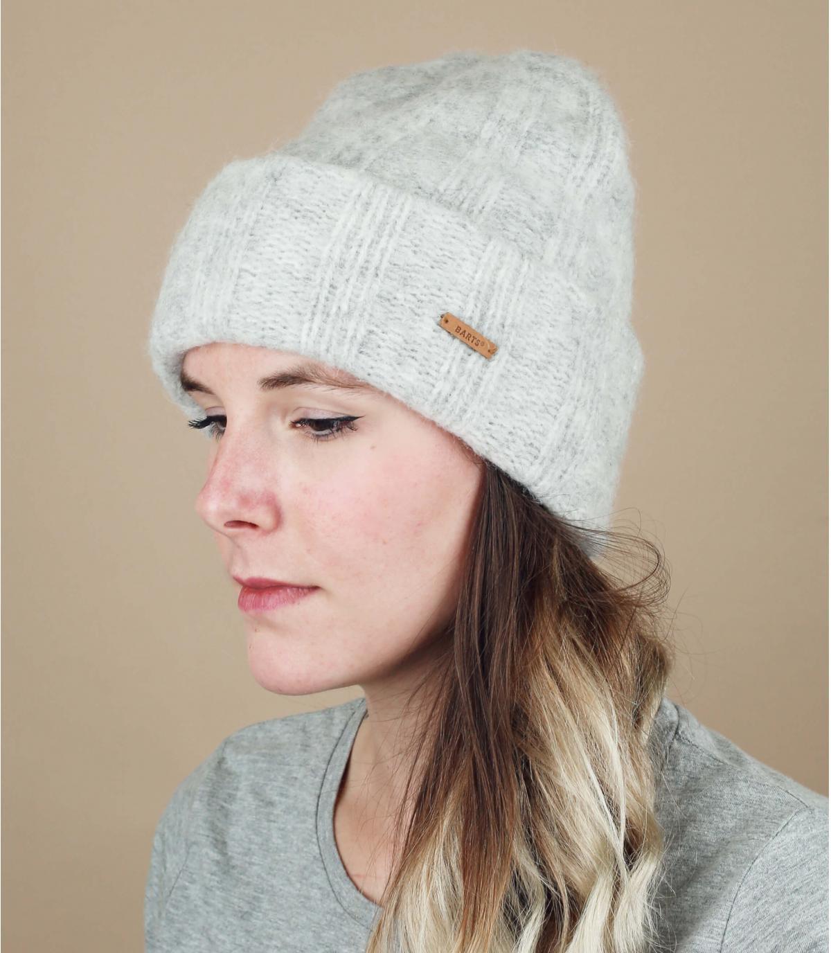 bonnet gris alpaga