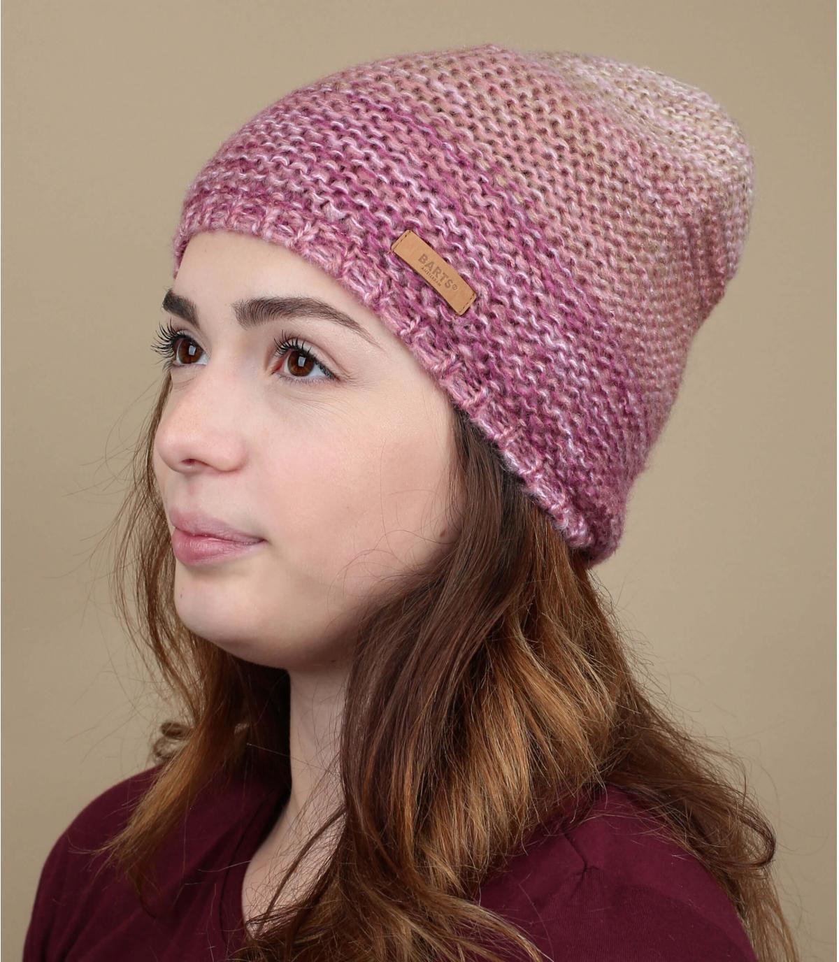 bonnet rose dégradé