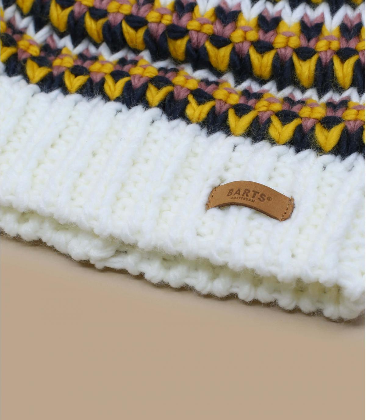 Bonnet pompon jaune