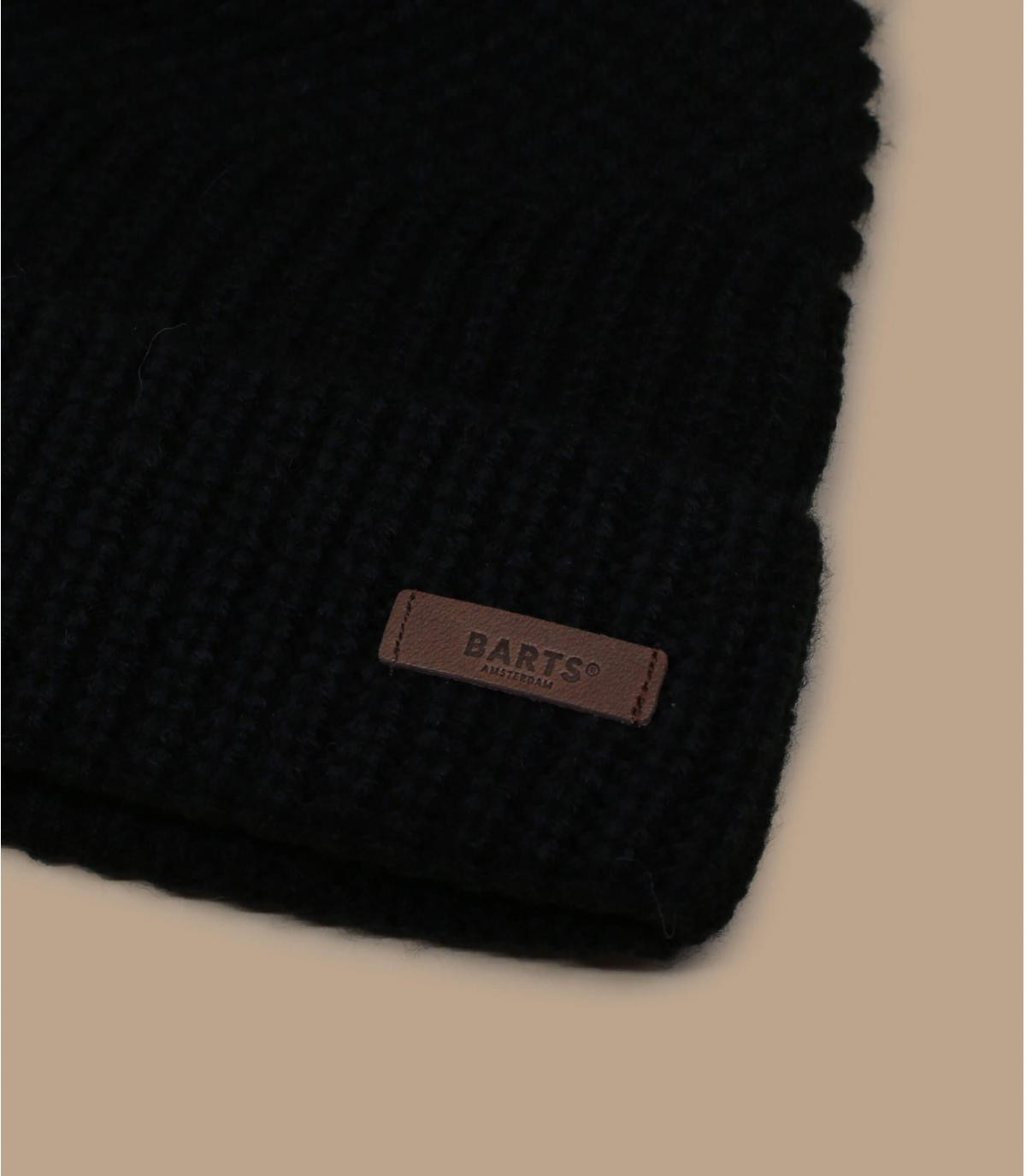bonnet revers noir Barts