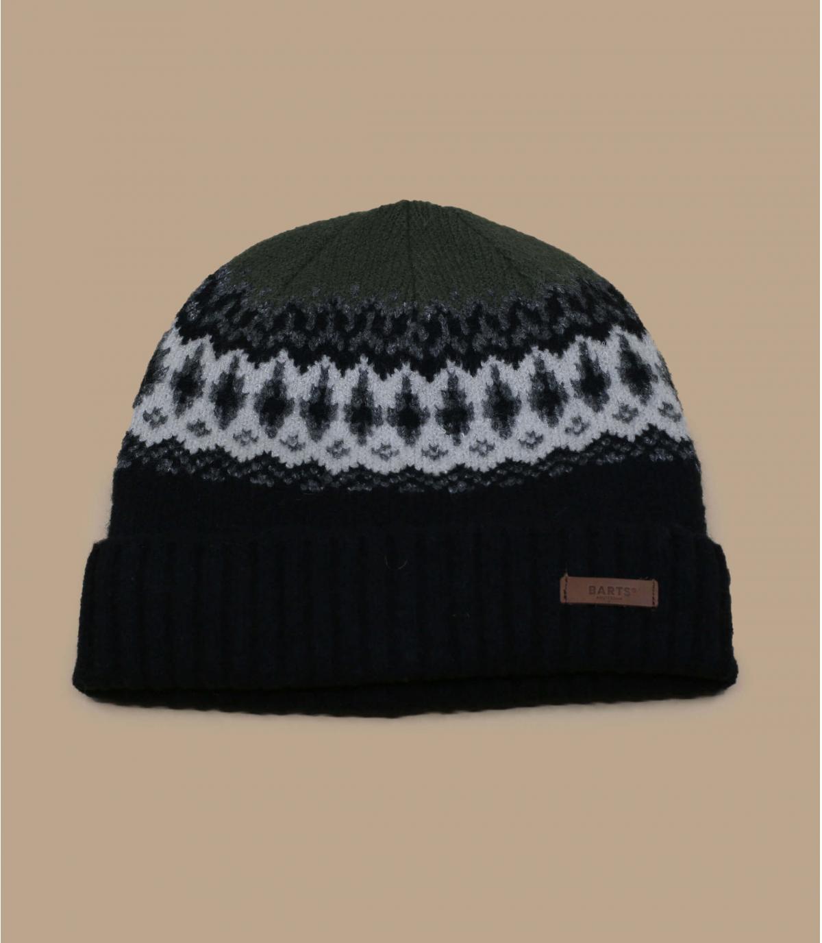 bonnet motif doublé noir