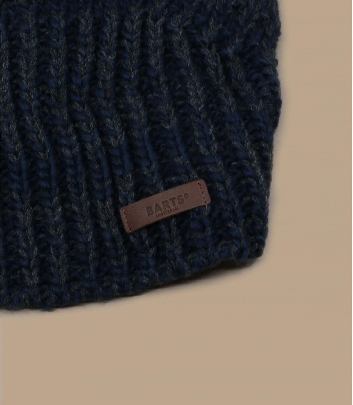 bonnet long bleu doublé