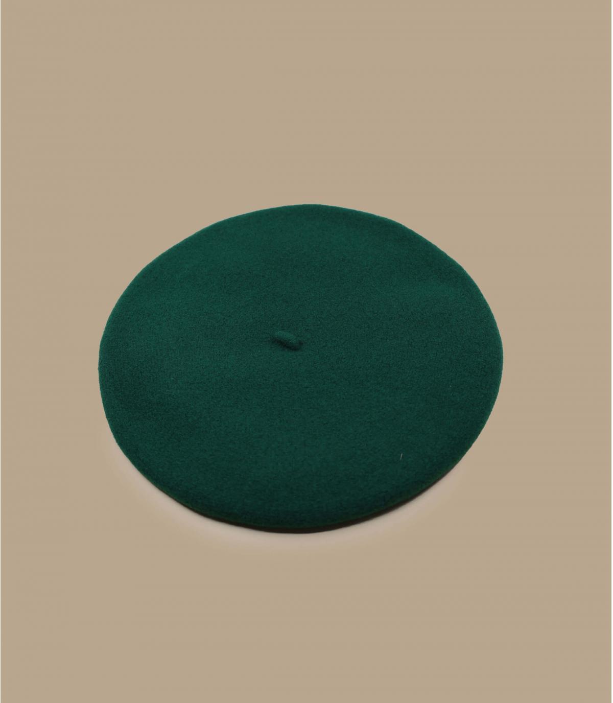 béret Laulhère vert mérinos