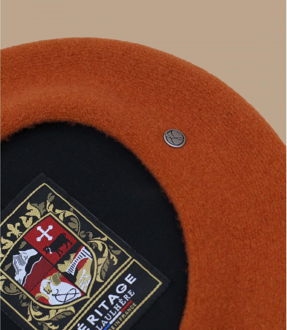 béret Laulhère orange mérinos