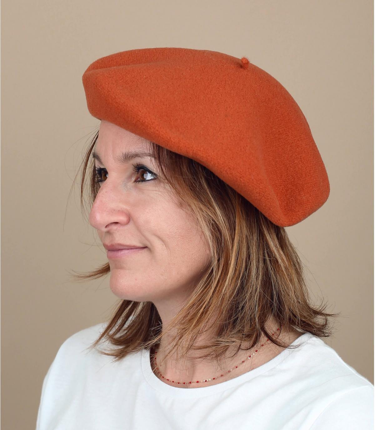 béret orange Laulhère