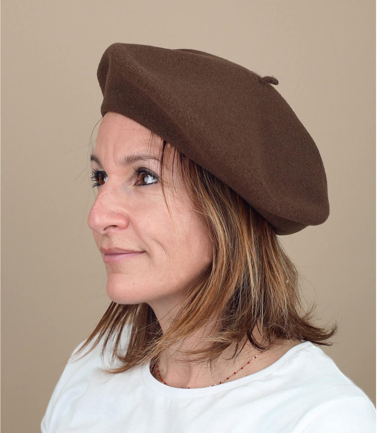 béret brun Laulhère