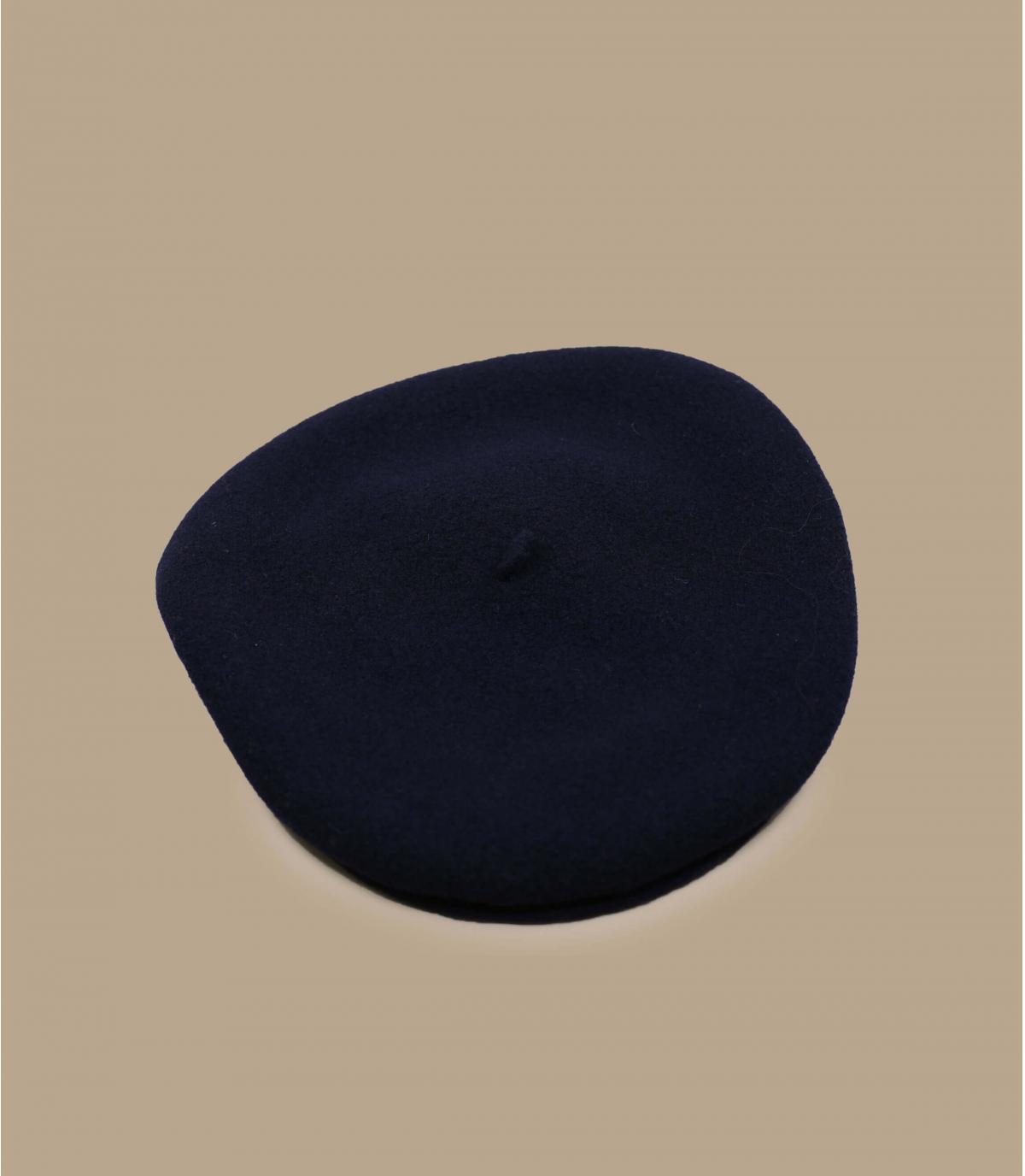 béret mérinos bleu Laulhère