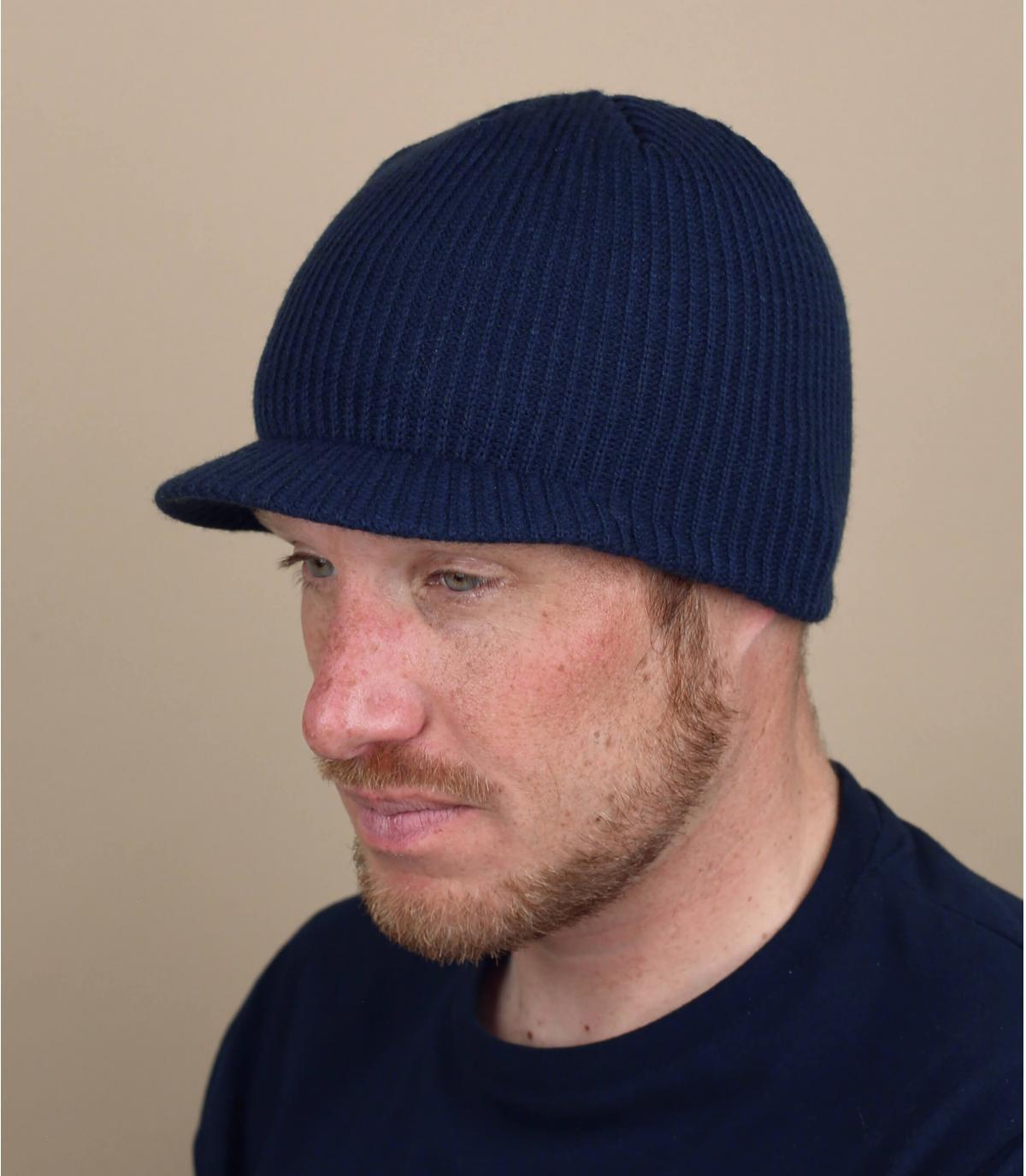 bonnet visière bleu Coal
