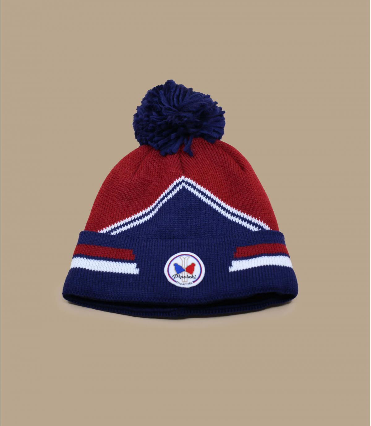 bonnet ski bleu bordeaux