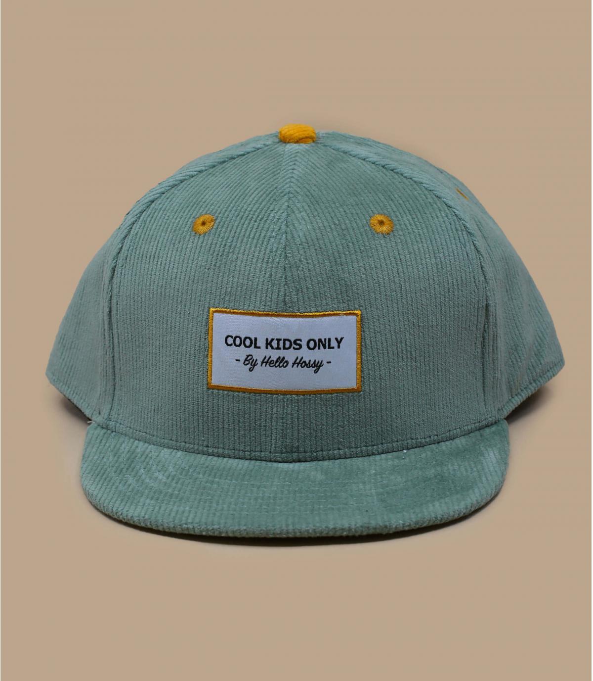 casquette enfant velours bleu