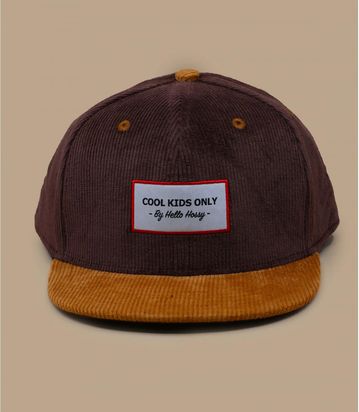 casquette enfant velours brun