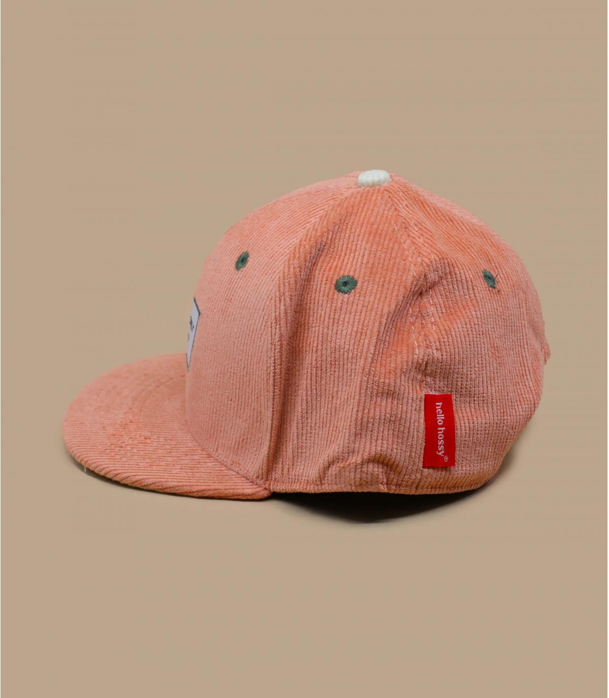 casquette enfant velours rose