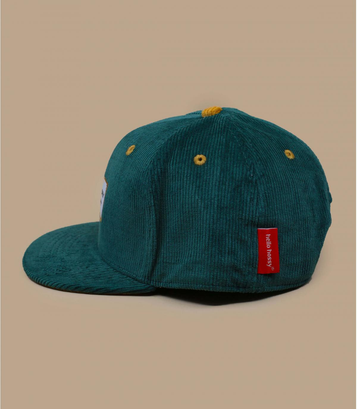 casquette enfant velours vert