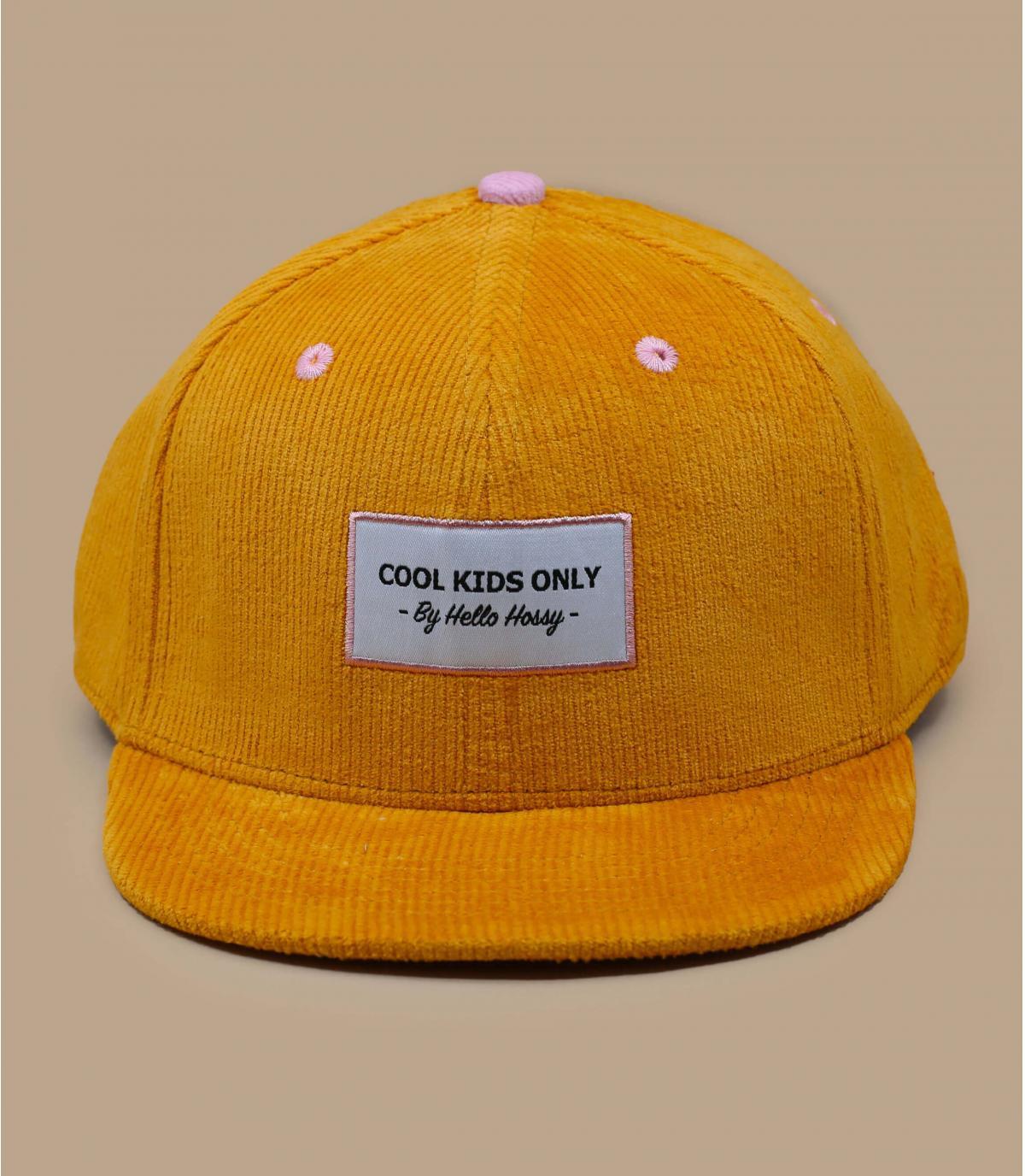casquette enfant velours jaune