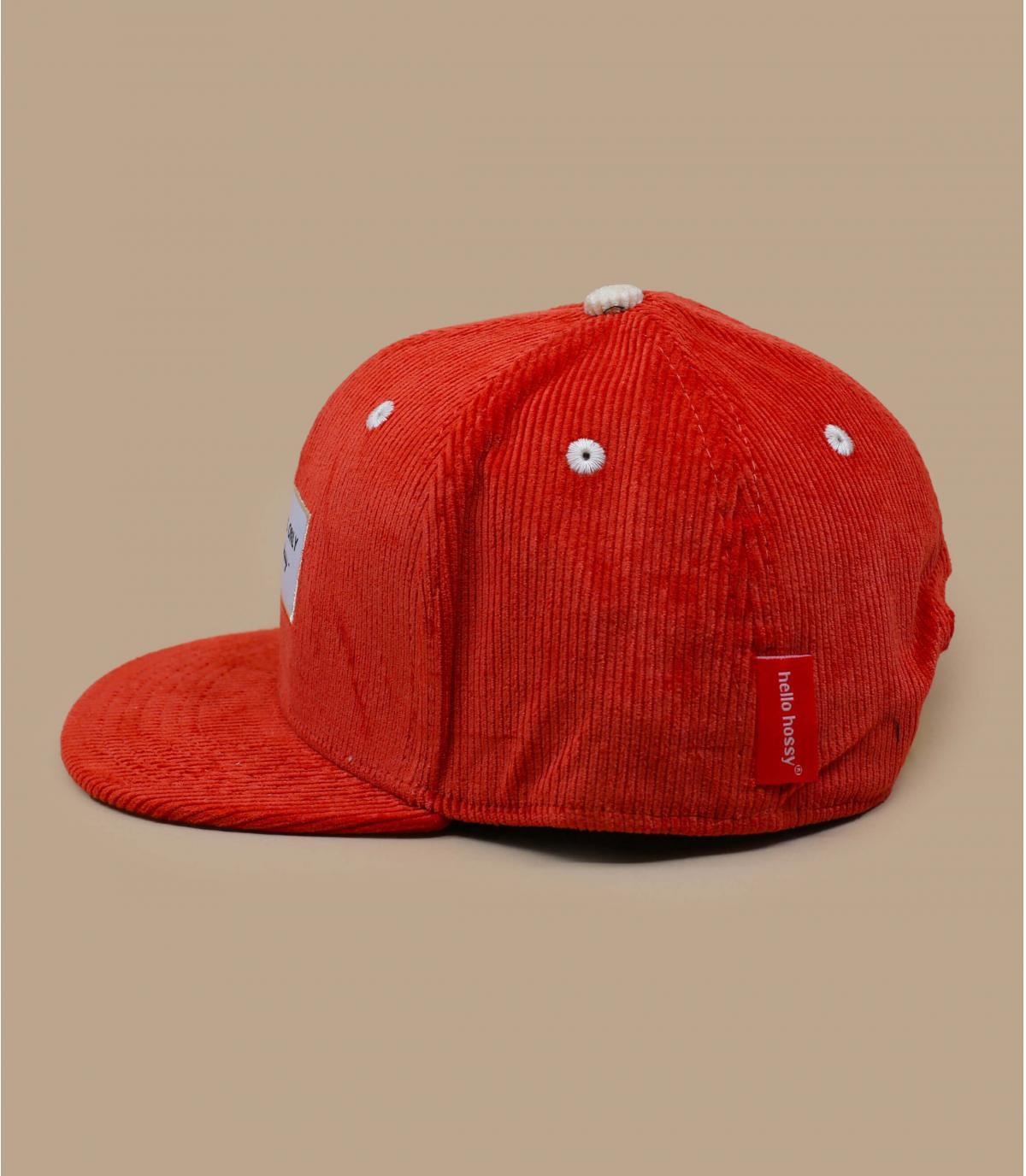casquette enfant velours orange